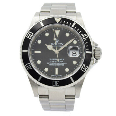 $ CDN12895.29 • Buy Rolex Submariner 16610 Black Dial And Bezel - 40mm 2008