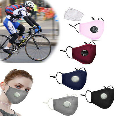 AU10.89 • Buy Washable Reusable Anti Air Pollution Face Mouth Mask Respirator + Free Filters