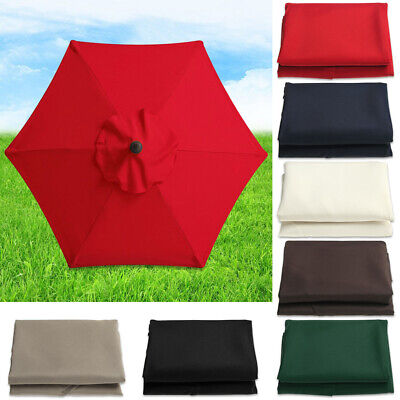 Umbrella Surface Replacement Rainproof Fabric Garden Parasol Canopy Cover • 20.49£