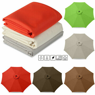 Umbrella Surface Replacement Rainproof Fabric Garden Parasol Canopy Cover UK • 31.31£