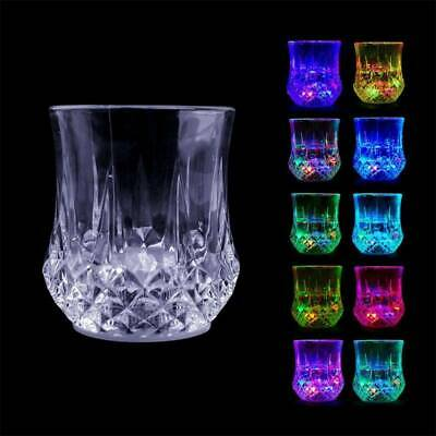 LED Flashing Glowing Light-up Water Glasses Beer Mug Party New Sory • 2.02£