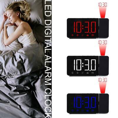 LED Digital Projection LCD Display Alarm Clock With FM Radio Function New YEE • 13.99£