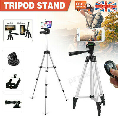 Universal Tripod Stand Adjustable Camera Phone Holder Selfie For IPhone Samsung  • 7.99£