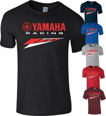 YAMAHA LOGO T-Shirt Motor Racing Sports Quality Cotton T- Shirt In ALL COLOURS • 12.99£