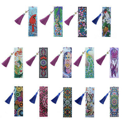 AU5.99 • Buy 5D Diamond Painting Bookmark Embroidery Art DIY Tassel Craft Book Marks Painting