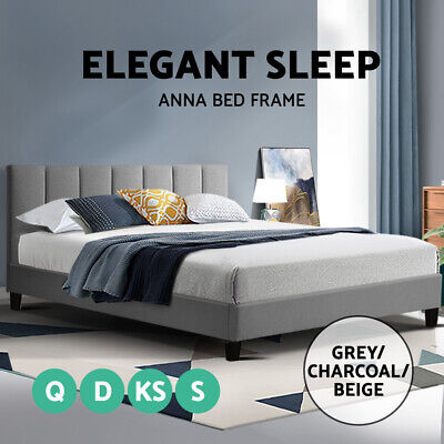 AU169 • Buy Bed Frame Queen Double King Single Full Size Base Mattress Platform ANNA
