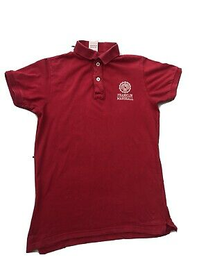 Mens FRANKLIN MARSHALL Polo Shirt Top  Red  Size Med • 3.50£