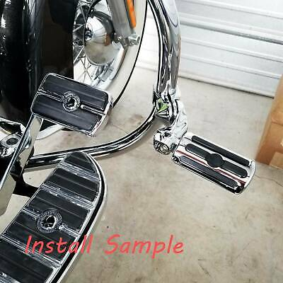 AU59.69 • Buy Chrome Highway Foot Pegs Motorcycle Engine Guard Rest For Harley Davidson
