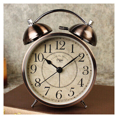 AU42.91 • Buy Retro Alarm Clock Battery Operated Analogue Bedside Loud Clock With Backlight