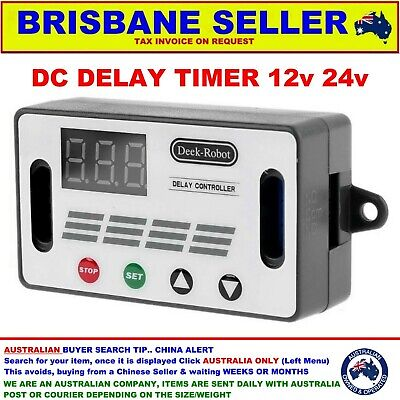 AU25.99 • Buy Delay Timer Relay 5v 12v 24v Dc Switch Seconds Minutes And Hours