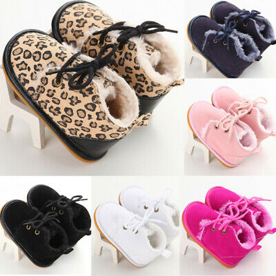 Baby Girl Boy Snow Boots Winter Booties Infant Toddler Newborn Crib Shoes 0-18M • 8.99£