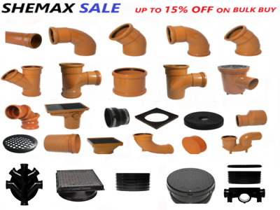 Underground Drainage 110mm  Bends, Junctions, Gullies, Trap, Pipe Fittings • 12.99£