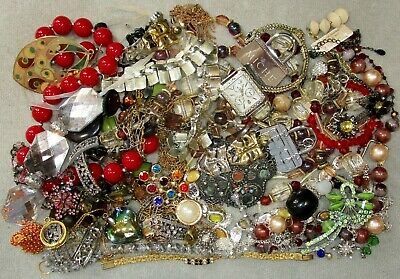 $ CDN26.36 • Buy Jewelry Lot LBS Vintage - Now Junk Drawer Harvest Craft Unsearched Untested A2