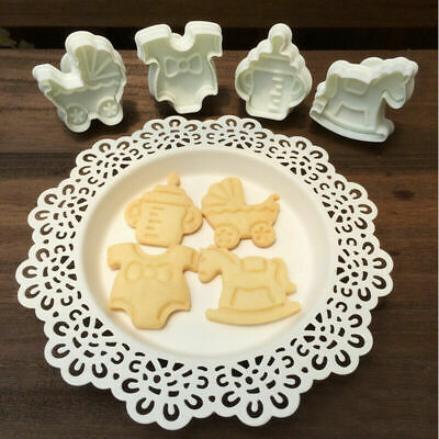 £1.87 • Buy Mould Cake Biscuit Mold Baking Fondant 4pcs Cookies Plunger Cutter Cute Baby