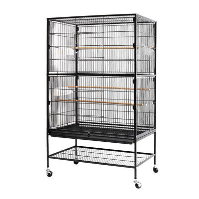 £89.95 • Buy 132cm Large Metal Bird Cage With Stand Parrot Budgie Canary Cockatiel Aviary UK