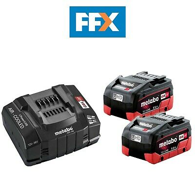 £189 • Buy Metabo 685190000 2 X 18V 5.5Ah LiHD Batteries And ASC145 Quick Charger