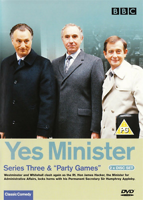 Yes Minister - Series Three DVD (2003) Paul Eddington • 1.75£