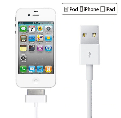 AU4.50 • Buy USB Data Charger Cable For Apple IPhone 4S 4 3GS IPod Touch IPad 2 3 Sync Cord