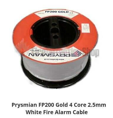 Prysmian Fp200 2.5mm 4 Core Gold Fire Cable 10m (white) • 13.95£