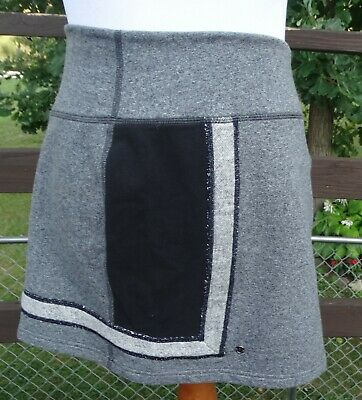 $ CDN65.35 • Buy Lululemon Heathered Gray Black Refresh Skirt Size 10, Stretch French Terry