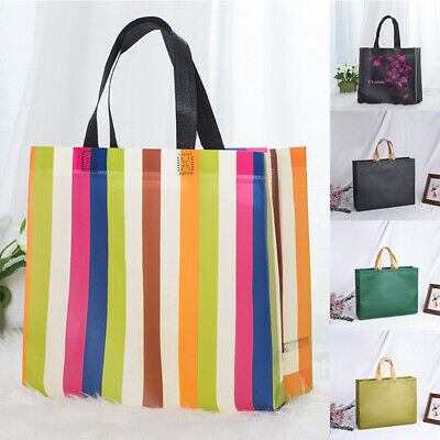 1PC Reusable Shopping Bag Non-Woven Foldable Grocery Bag Waterproof Travel • 2.19£