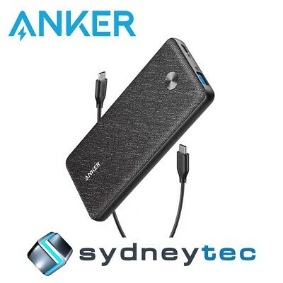 AU167.94 • Buy New Anker PowerCore Essential 20000 PD Power Bank - Black Fabric