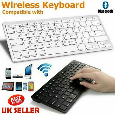 New Slim Wireless Bluetooth Keyboard For Imac Ipad Android Phone Tablet   • 11.99£