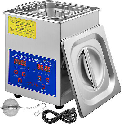 AU72.63 • Buy Ultrasonic Cleaner Heater Stainless Steel 1.3L Liter Industry Heated W/Timer New