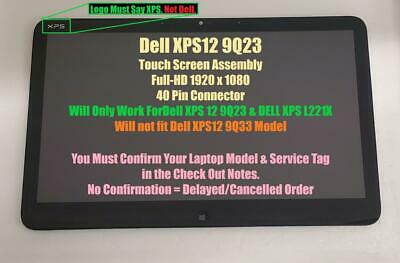 $ CDN316.42 • Buy LCD Screen Touch Display Assembly With Frame LP125WF1 SP A2 For Dell XPS 12 9Q23