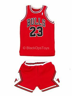 $75 • Buy 1/6 Scale Toy Michael Jordan -  Chicago Bulls  Red Jersey & Shorts (Type 1)