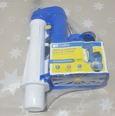 Syphon Dudley Turbo 88 Duoflush Two Part 203mm (8 ) New FAST Delivery Toilet Wc • 19.99£