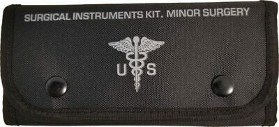 $33.99 • Buy BLACK First Aid Surgical Kit Military Molle Pouch Survival Medical 16 Pieces EDC