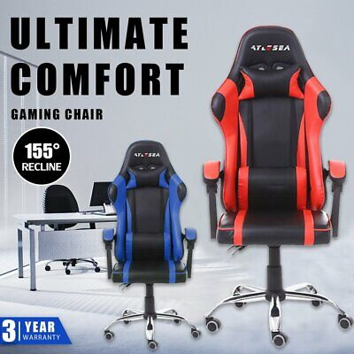 AU125.05 • Buy Gaming Chair Office Computer Seating Racing PU Executive Racer