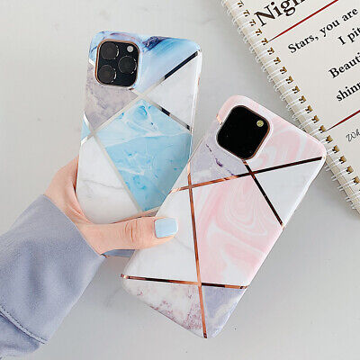 AU6.99 • Buy Shiny Marble Case For IPhone 11 XR XS MAX 8 7 Plus ShockProof Phone Cover