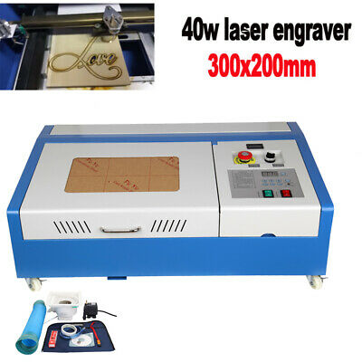 40W CO2 Laser Engraver Cutter Engraving Cutting Machine 300x200mm LCD Display • 280.89£