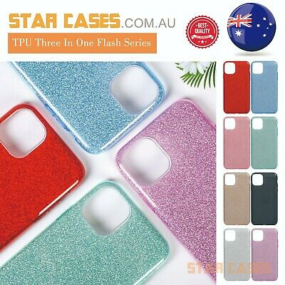 AU9.99 • Buy IPhone 12 11 Pro Max Mini XS X XR 78 SE2 Shockproof Bling  Sparkling Case Cover