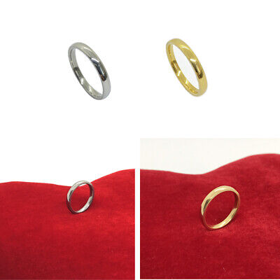 Wedding Band Ring Plain 18k Gold Filled Or Silver Men Women Solid S.Steell  • 3.49£