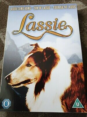 Lassie Come Home / Son Of Lassie / Courage Of Lassie Dvd 3 Films Retro 40s • 16.99£