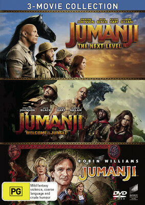 AU42.99 • Buy 3 Movie Collection (jumanji: The Next Level / Jumanji: Welcome To The [new Dvd]