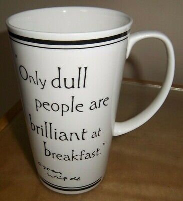 Past Times Latte Mug - Oscar Wilde - ' Only Dull People Are Brilliant At Breakfa • 9.95£