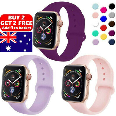 AU11.99 • Buy For Apple Watch IWatch Series 5 3 4 38/40/42/44mm BEST SILICONE Sport Strap Band