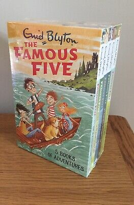 Enid Blyton The Famous Five  Box Set Collection 1-5 Books * Brand New • 23£