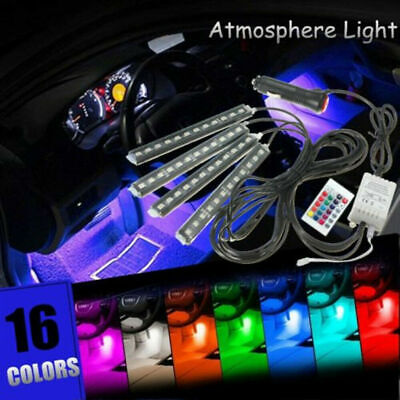 $16.53 • Buy RGB LED Lights Car Interior Floor Decor Atmosphere Strip Lamp Parts Accessories