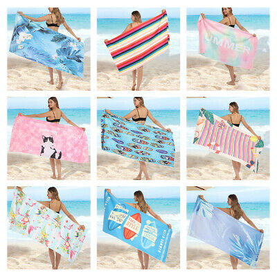 AU33.69 • Buy Microfibre Beach Towel-Quick Drying Lightweight Travel Towels Ultra Absorbent