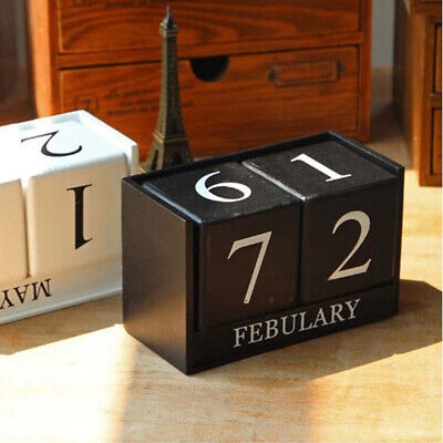 Vintage Wooden Perpetual Calendar Month Date Showing Home Office Decoration J JE • 6.51£