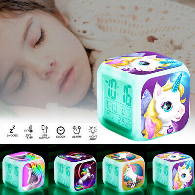 AU19.29 • Buy Kids Alarm Clock Digital Wake-up Light LED Night Light Birthday Christmas Gift