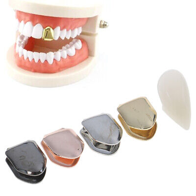 14K Gold Plated HipHop Teeth Grill False Whitening Plated Small Single Tooth JE • 3.83£