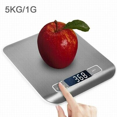LCD Digital Kitchen Bowl Scales Stainless Steel Baking Cooking Food Weighing 5KG • 8.95£