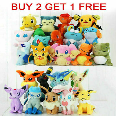 Pokemon Collectible Plush Character Soft Toy Stuffed Doll Teddy Gift • 6.69£