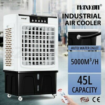AU259.95 • Buy Maxkon 45L Industrial Evaporative Air Cooler Portable Air Conditioner Fan Cooler